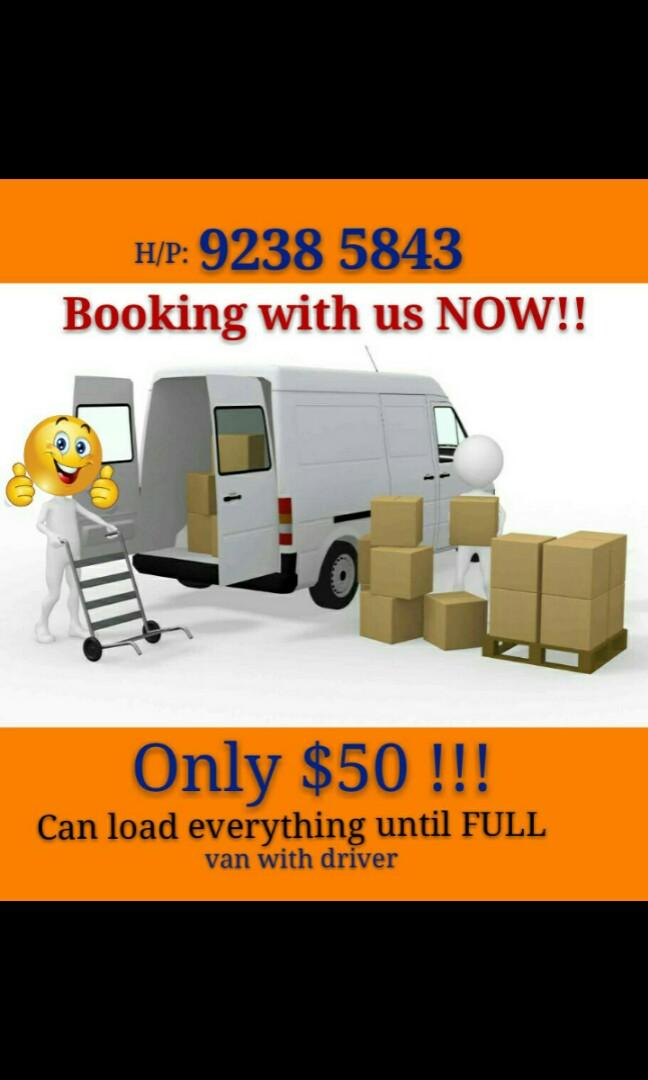 Van moving services!!! Load until full only $50 !!!