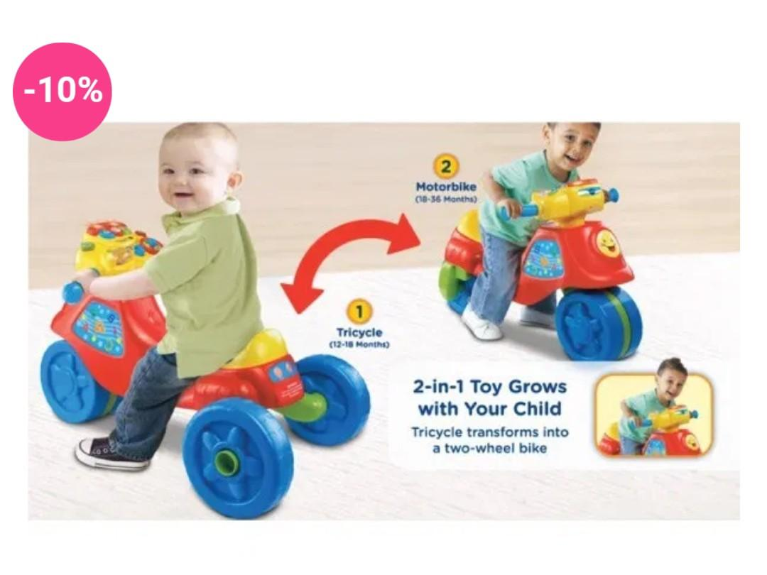 VTECH CLEARANCE 3 in 1 TRI TO BIKE