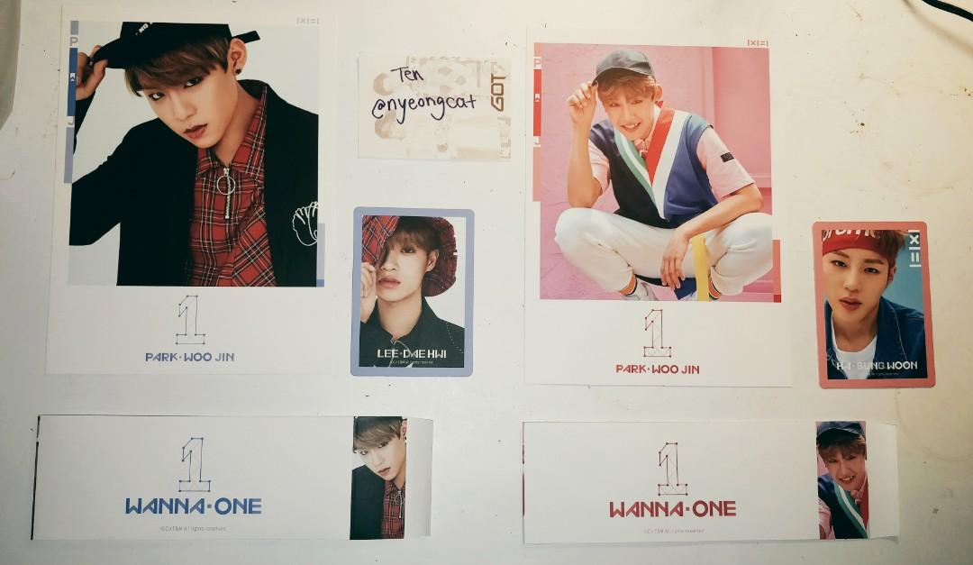 WANNA ONE - To Be One 1x1=1 Photocards and Sleeves
