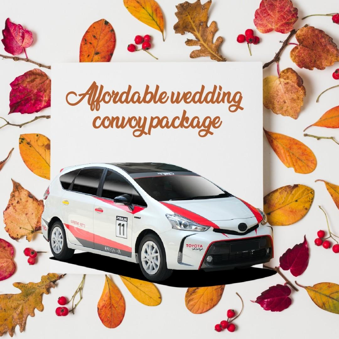 Wedding Convoy Package Toyota Prius Plus for Rent!!