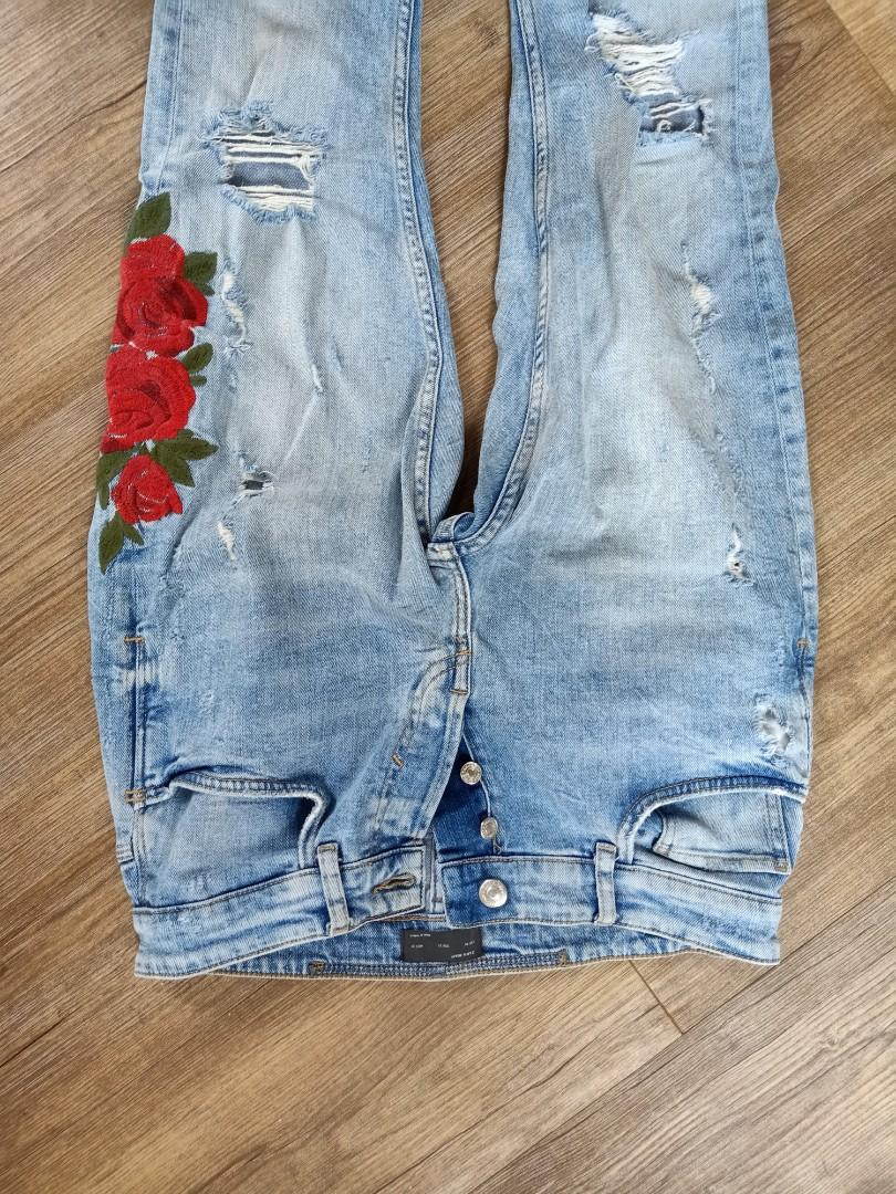 Zara floral jean for man