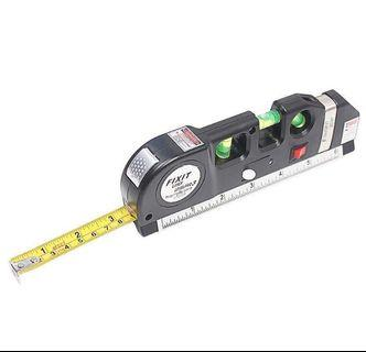 Meteran Laser Horizontal Vertical 250CM with Bubble Level