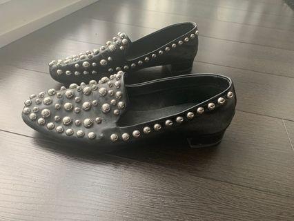 Zara leather loafers (size 11)