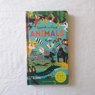 PRELOVED • Search and Find Animals (With Giant Fold-Out Scenes)