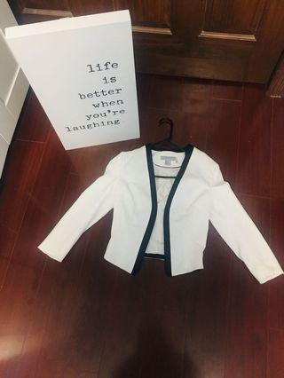 H&M White Blazer- Size 2