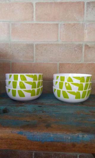 6pcs melamine tupperware bowls