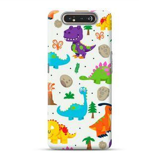Cute Dinosaurs Samsung Galaxy A80 Custom Hard Case