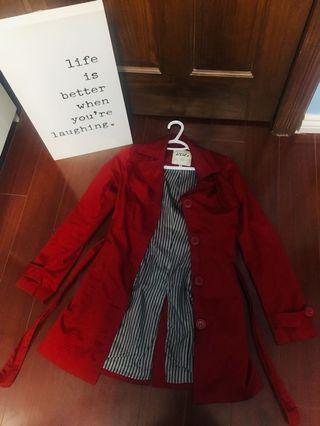 Costa Blanca Red Button-up Coat- Size 2