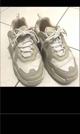 Hawkins sport 米白色老爹鞋