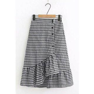 [PREORDER] Irregular Plaid Skirt