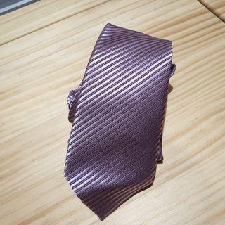 粉紫色斜紋窄版領帶