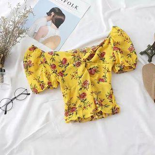 [PREORDER] Floral Off Shoulder Top