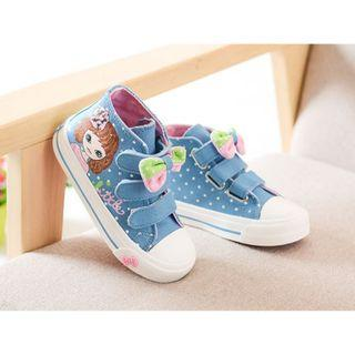 Kid Shoes - Trio Velcro High Top Sneakers