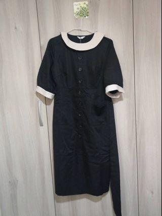 茂木太太Dresseum黑白復古洋裝