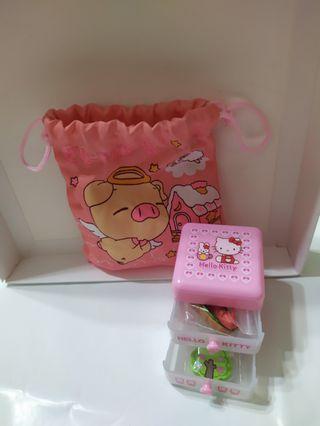 Hello kitty小飾品盒附贈束口袋