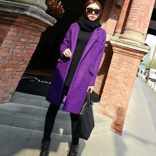紫色毛尼大衣M 全新僅試穿 售300 原價1000多