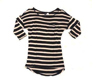 Divided by H&M Blouse Kaos Uneck Stripe Top