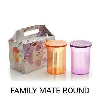FAMILY MATE ROUND SET 2 PCS WITH BOX