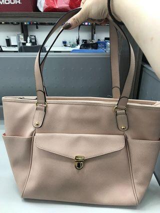 KINAZ 購物肩背包 粉膚色#出清2019