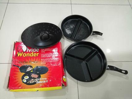[Serious buyers only] 30cm Divided 3 Section Frying Pan Set