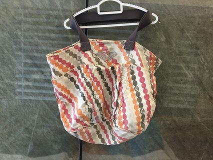 Roxy Beach/Diaper/Travel Tote Bag with front pockets