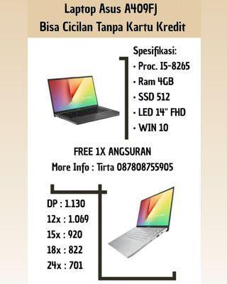 Laptop Asus A409FJ Bisa Cicilan Tanpa Kartu Kredit
