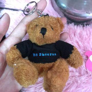 Ed Sheeran Teddy Bear Keychain