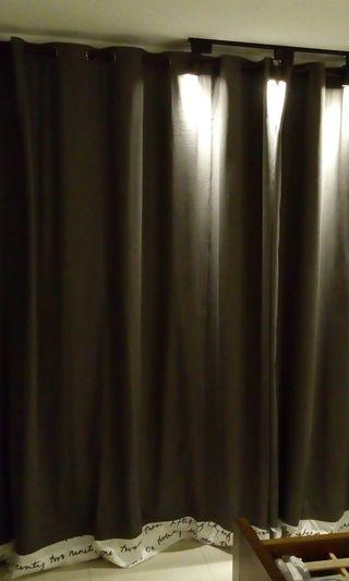 IKEA Block-out Grey curtain (limited unique piece) Hook French Pleat Eyelet Rod