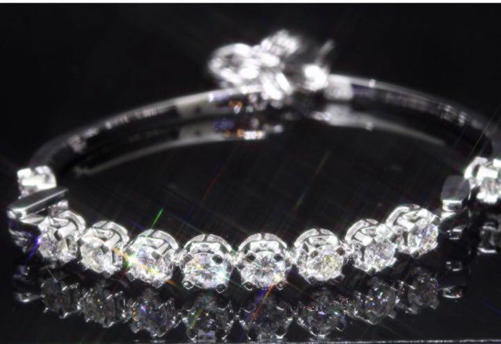 18K白金真鑽石手鍊手厄diamond bracelet