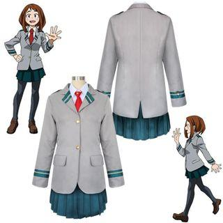 My Hero Academia Boku no Hero Akademia (BNHA) Chalk Uraraka Kyoka Jiro Tsuyu Asui Female School uniform Cosplay Costume