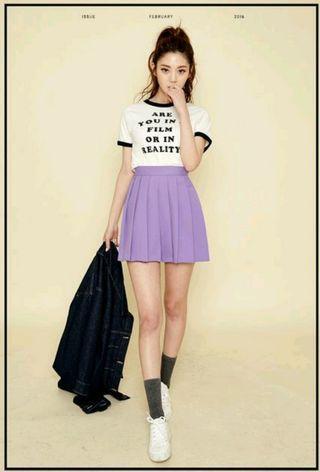 韓國Chuu 紫色百褶裙