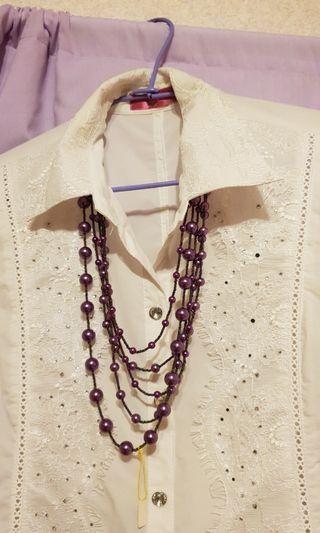 紫色亮麗造型鍊