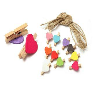 10Pcs Room Favor Wedding Craft Decor Photo Clips Wooden Pegs🌟Pre Orders🌟