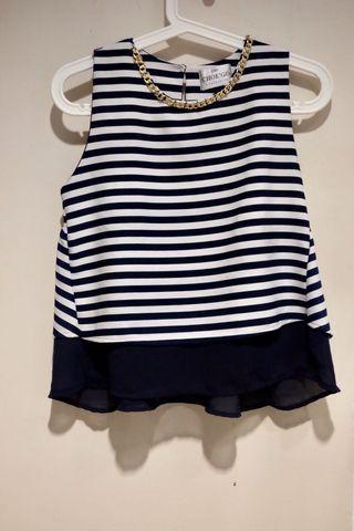 Stripes top/ babydoll top