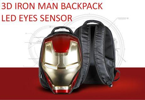 IRON MAN 3D LED BACKPACK BAG