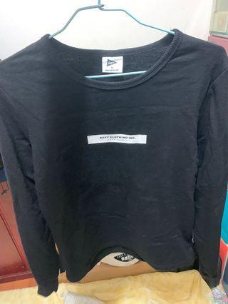 CACO 品牌BOX厚款長T 黑色長袖上衣 女生M號