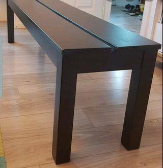 IKEA long wood bench