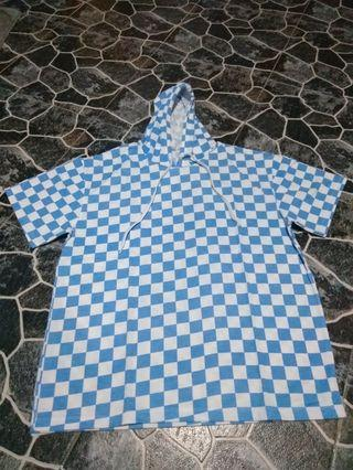 Blue Checkered Loose Top