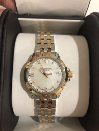 Authentic Raymond weil tango mother of pearl watch