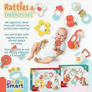5in1 set rattles teether by Bebe Smart