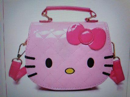 Cute Kitty Sling Bag for kids casual bag Pink