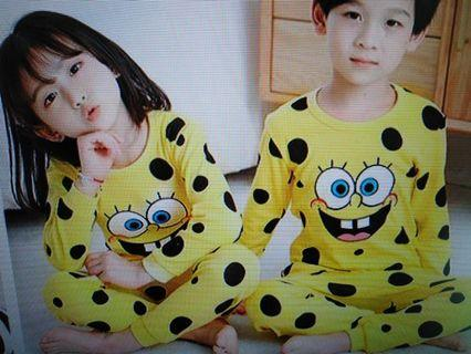 Kids cotton Pyjamas Sponge Bob