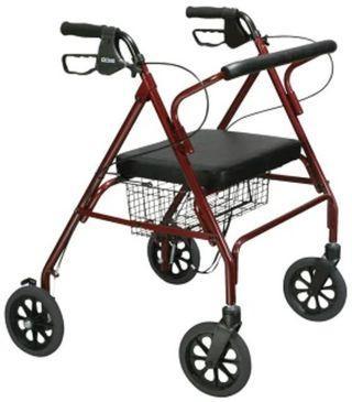 Adult Walker Rollator Red