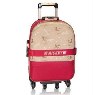 《Disney》星光米奇行李箱/米紅雙配色(25吋)