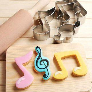 3pcs Music Note Shape Cute Cake Cookie Mold Decorating DIY Fondant Cutter Baking 🌟Pre Order🌟