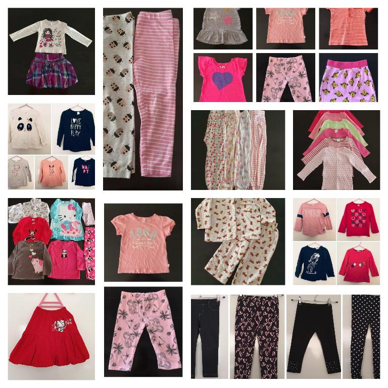 50 pieces assorted preloved size 2 good condition girls clothes