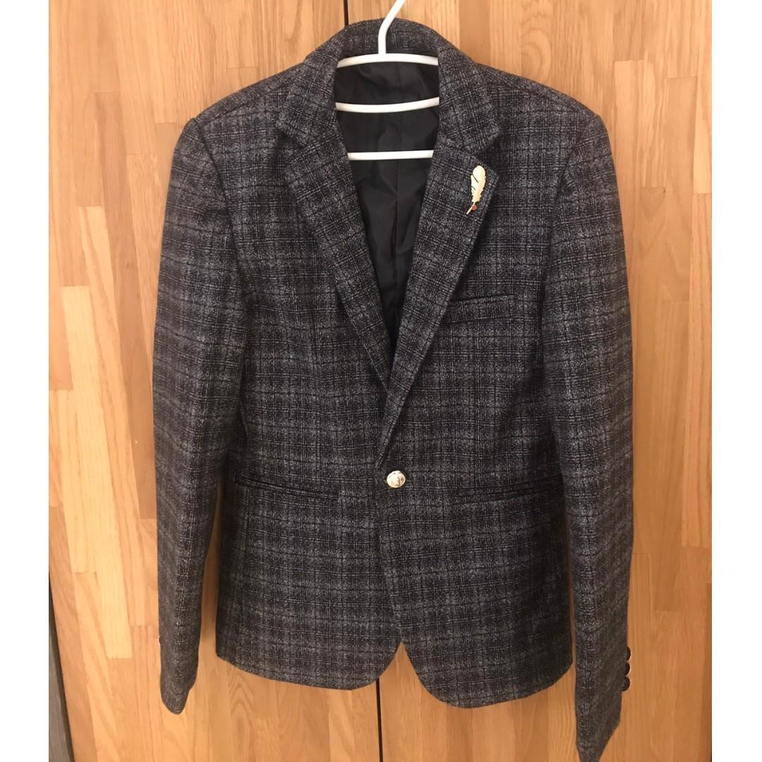 韓版潮流新款修身英倫休閒西服外套
