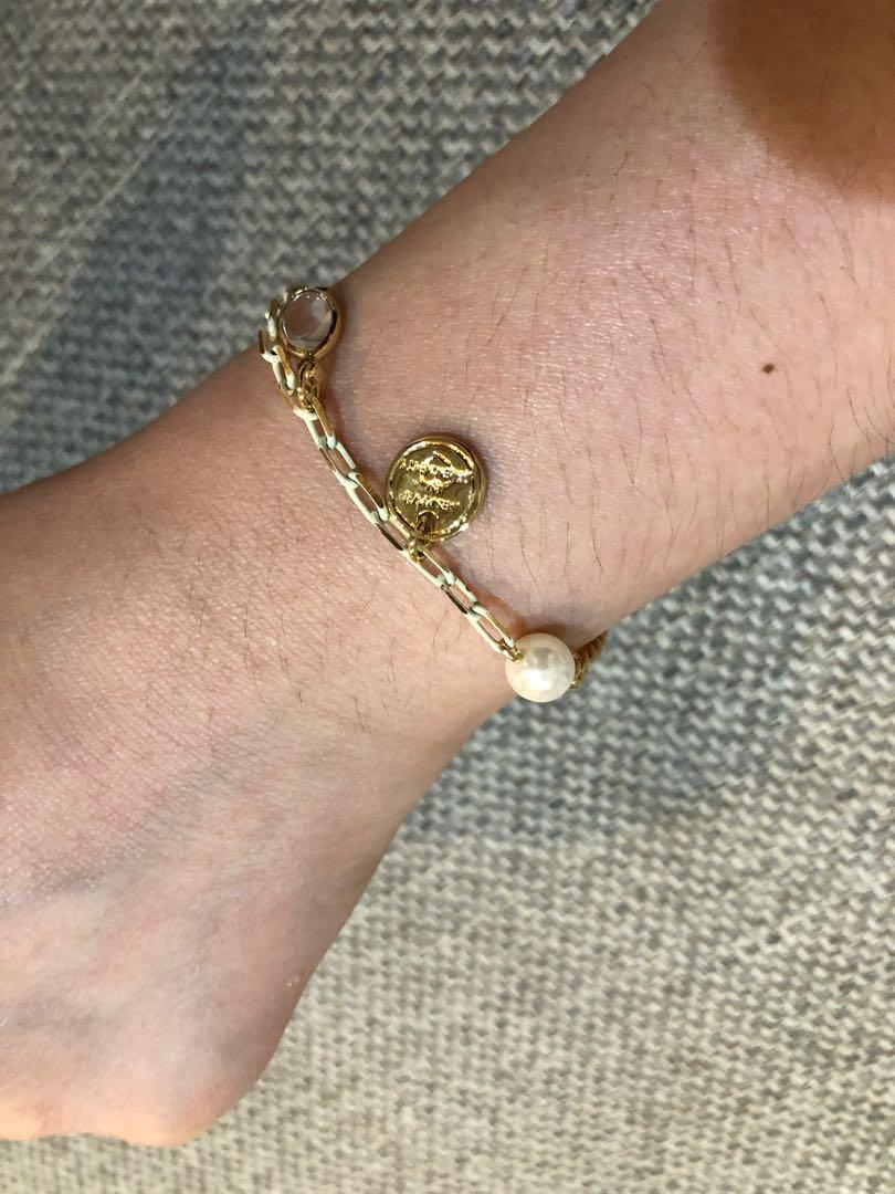 正韓 全新店面買的吊牌珠珠寶石造型氣質手鏈