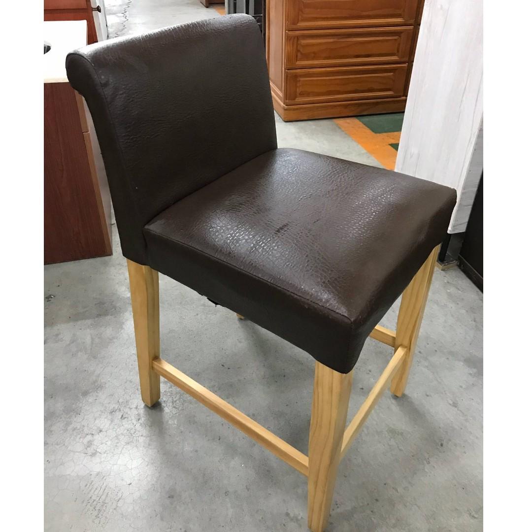 大慶二手家具 咖啡色高腳椅/洽談椅/書桌椅/電腦椅/書房椅/餐椅