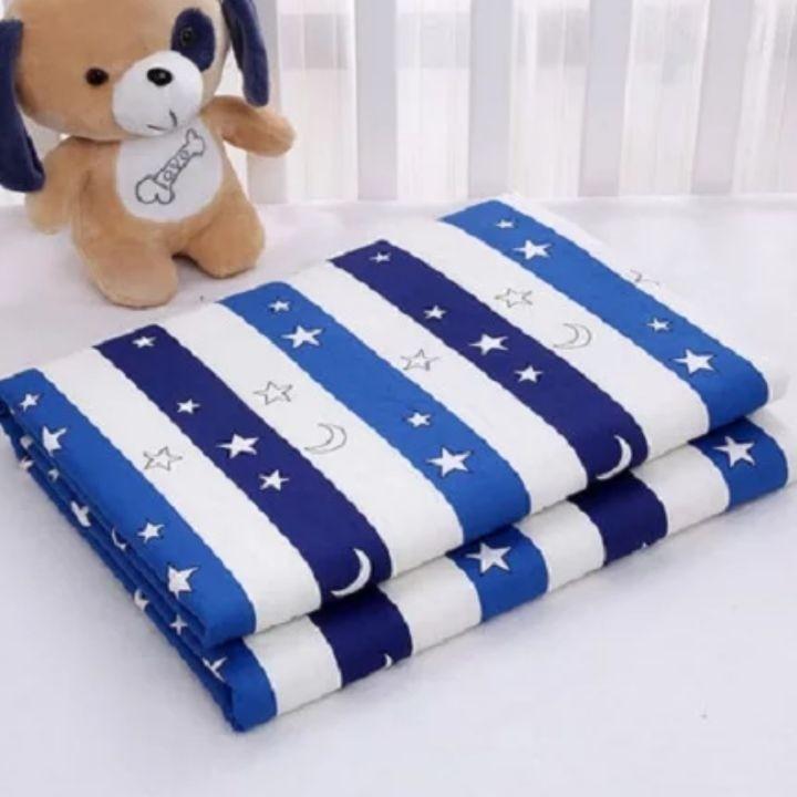 全新 條紋星月 棉質防水隔尿墊 尿布墊 生理期墊 寵物墊 嬰兒床尺寸
